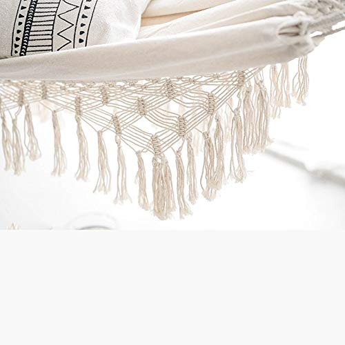 CHENTAOCS Double Boho Tassel Nest Hangmat Swing Chair Outdoor/Indoor Picnic Garden Macrame Braziliaanse hangmat Opknoping Net Chair Swings