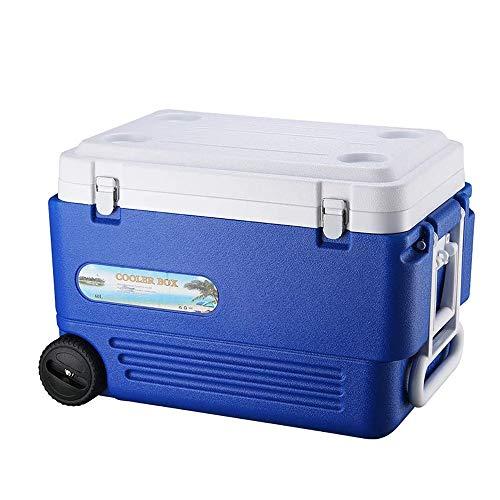 YANGYUAN Ruedas de Rod cubo de hielo - Caja refrigerada al aire libre Caja de almacenamiento de hielo cubo de hielo cubo de hielo Alimentos caja de almacenamiento que pueden también utilizar for la pe