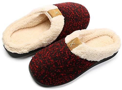 Zapatillas de Estar por casa Mujer Hombre Espuma de Memoria Invierno Interior Pantuflas Caliente Forro Ultraligero Cómodo y Antideslizante