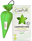 MANGALAM CamPure Camphor Cone, 45 Days Scent for Cars, Room Freshener with Mosquito Repellent Properties (Jasmine) -2 Pack