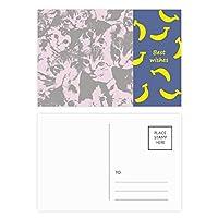 猫のファッションポスターを保護する動物のペットの恋人 バナナのポストカードセットサンクスカード郵送側20個