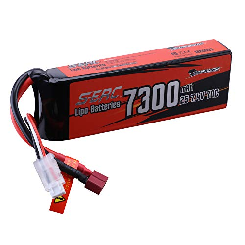 SUNPADOW 7300mah 2S 7.4V Lipo Battery 70C Soft Pack with Deans T Plug for RC Vehicles Car Truck Tank Buggy Truggy Boat Racing Hobby