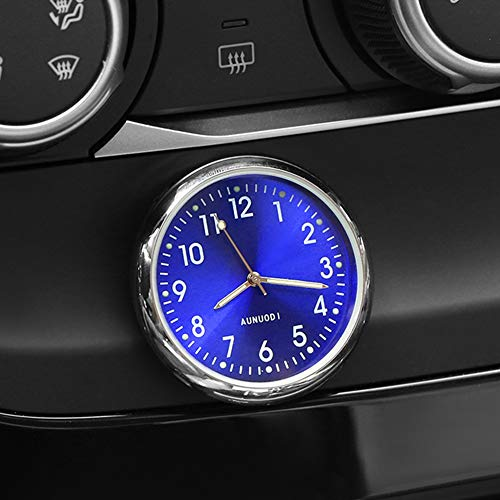 MeterMall Auto Ornament Auto Uhr Auto Uhr Auto Innendekoration Aufkleben Uhr Ornamente Zubehör Fluoreszierend Blau