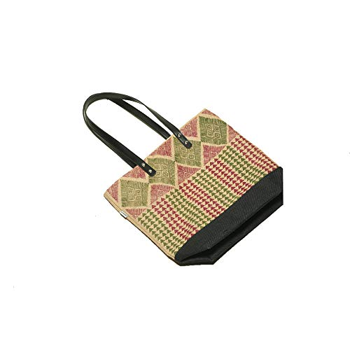 Jute Printed shopping stylish Tote Bags JE14155_T_28