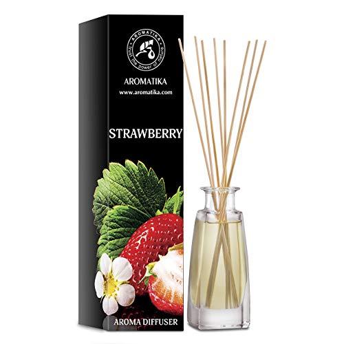 Erdbeere Aroma Diffusor 100 ml - Duftvase - Raumduft - Lufterfrischer - Erdbeere Duftdiffusor - Geschenkidee - Raumbeduftungsmittel - Reed Diffusor - Erdbeere Aroma