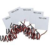 Diymore 5pcs TEC1-12705 12V 50W 40MMX40MM Heatsink Thermoelectric Cooler Cooling Peltier Plate Module