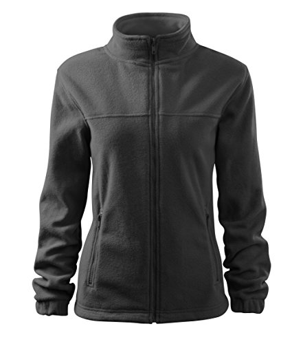 OwnDesigner by Adler Damen Elegante Fleecejacke Outdoor Pullover Fleece (504-Grau-M)