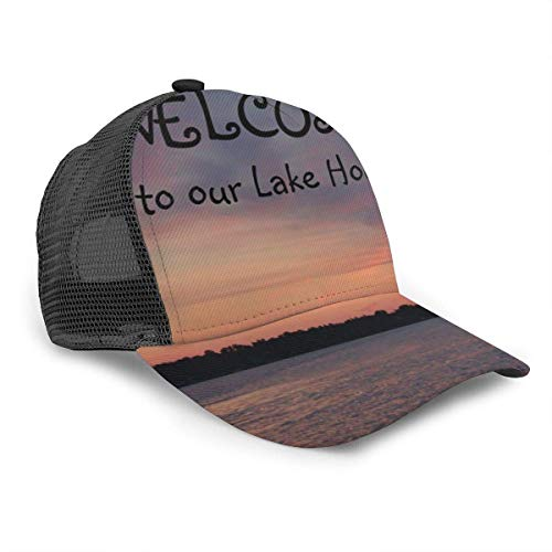 Vinkde Welcome to Our Lake House White Board Girl Adult Cap Adjustable Cowboys Hats