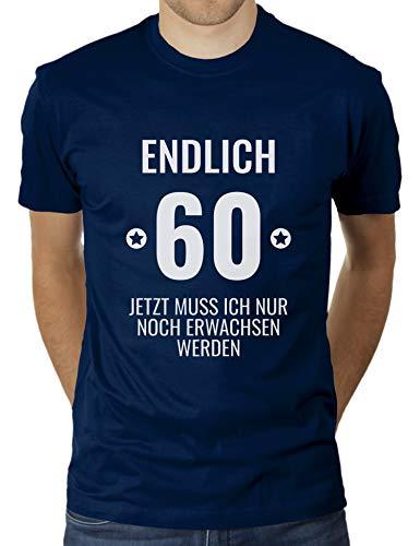 KaterLikoli - T-shirt da uomo con scritta in lingua tedesca Navy francese M
