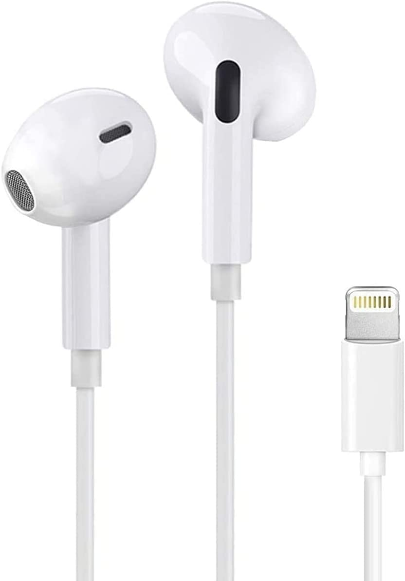 iPhone Earbuds with Lightning Connector(Built-in Microphone & Volume Control) in-Ear Stereo Headphone Headset Compatible with iPhone SE/12/11/X/8 7/8 7 Plus/ipad[Apple MFi Certified] All iOS System…