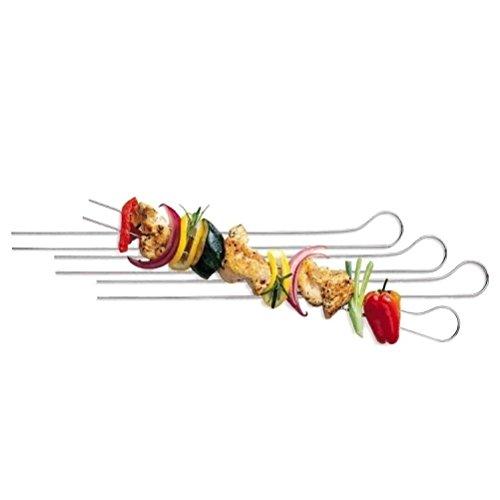 Spiedini A Doppie Punte Per Cucinare La Carne E Verdure, E Barbecue 33 Centimetri - Confezione da 8 by ARTUROLUDWIG
