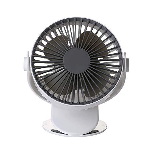 Shizuka Shine Suzuko Ventilator, alloggio per studenti, ricarica USB rotazione een 360 °, Grande ventola del Vento stijlnaam size Kleur: wit