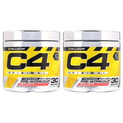 Cellucor C4 Sport Pre-Workout Powder Blue Raspberry 195g - Pack of 2