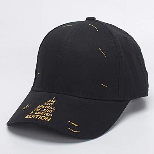 comprar marca BZAHW Unisex Unisex Unisex hombres mujeres algodón Carta Bordado Sun Peaked Hat Ajustable Gorras de béisbol del Deporte (Color   Color negro , Talla   One Talla )  Precio por piso