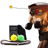 Walmeck Bolas de Boxeo para Reflejos con Diadema de Silicona para Entrenamiento de perforación