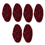 IPOTCH 3 PCS Couvre-Chaussures Flanelle Enfants pour Maison Surchaussures Réutilisable pour Bureau et Atelier, Couvre Chaussures Résistant - Vin Rouge L, L
