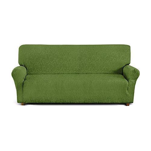 Corredocasa - Copridivano Elastico 4 Posti, Poliestere-Cotone, Verde da 170 a 250 cm