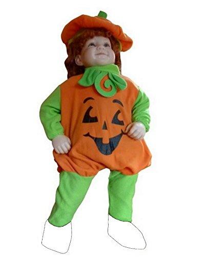 F69 86-92 Kürbiskostüm, Halloween Kostüm, Kürbis Faschingskostüme, Kürbis Karnevalskostüm, für Kinder, Jungen, Mädchen, für Fasching Karneval Fasnacht, auch als Geschenk zum Geburtstag oder Weihnachten