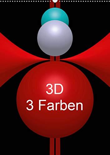 3D - 3 Farben (Wandkalender 2021 DIN A2 hoch)