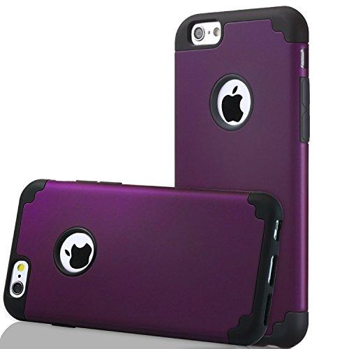 iPhone 6s Plus/6 Pus Thin Case, HLCT Slim Hybrid Dual-Layer Case for iPhone 6s Plus/6 Pus (Purple)