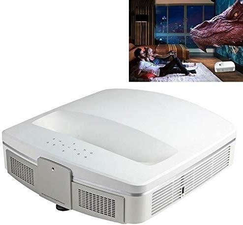 Projektor, beweglicher Projektor mit Full HD 1080p, Bluetooth WiFi Smart-3D Ultra-Short Fokus Projektor for Heimkino