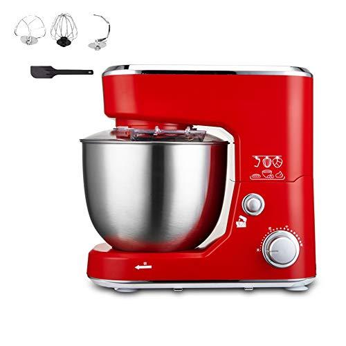 ACCLD Batidora de huevo para cocina casera, Batido, Videos, Mezcla de Zutaten, Batidora eléctrica 1000W,Rot