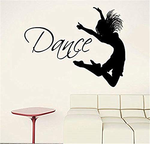 Wandtattoo Dance Quote Dancer Silhouette Gymnastics Wall Vinyl Decal Sticker Girls Bedroom Home Decor Removable Interior Decoration