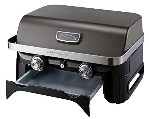 Campingaz Attitude 2100 LX Gas Grill, Portable Table Top Grill, 2 Steel Burners, 5 KW Power, Camping Gas Barbecue with…