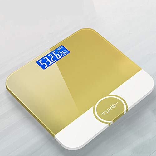 MHBY Weight scale, USB rechargeable weight scale human body electronic scale household precision adult children health weight scale LED digital fat scale bathroom scale