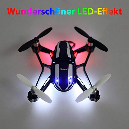 4.5-Kanal 2.4GHz RC Ferngesteuerter 4in1 Hybrid UFO Quadcopter und Fahrzeug mit HD-Kamera, Rotorenschutz,6-axis Gyro, 3D Loopings, Komplett-Set inkl. Akku, Ersatzteil-Set
