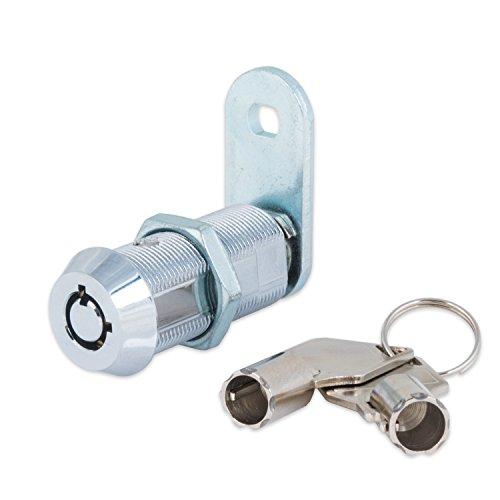 FJM Security 2400AXL-KA Tubular Cam Lock with 1-1/2' Cylinder and Chrome Finish, Keyed Alike