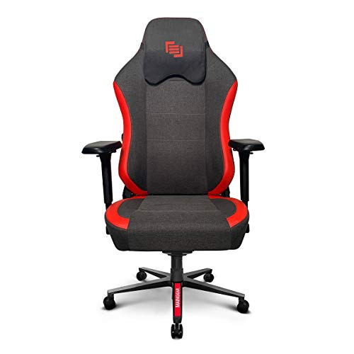 MAINGEAR Gaming Chair Forma R MK II Ergonomic Office Chair Computer Racing Style Recliner with Built in Adjustable Lumbar Support, Black/Red