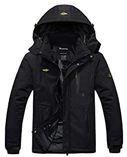 Wantdo Men's Waterproof Fleece Ski Jacket Windproof Rain Jacket Outdoor Jacket Brick Red S (B07B2SNQ5G) | Amazon price tracker / tracking, Amazon price history charts, Amazon price watches, Amazon price drop alerts