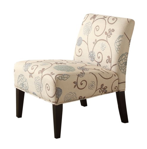 Incredible Homelegance 468F25S Lifestyle Armless Lounge Chair Floral Squirreltailoven Fun Painted Chair Ideas Images Squirreltailovenorg