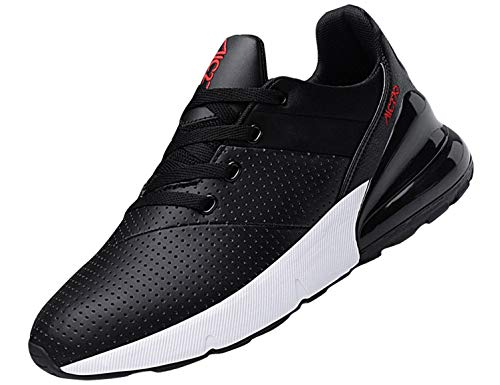 SINOES Femme Homme Baskets Chaussures Sport Outdoor Running Gym Fitness Sneakers Style Running Multicolore Respirante Noir Rouge 43 EU