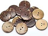 Handarbeit-Lieblingsladen 30 Kokosnuss Knöpfe zum aufnähen - Ø 2,3 cm - 2 Löcher - Braun basteln...