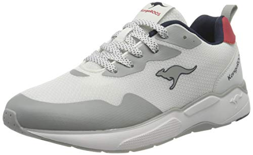 KangaROOS Męskie buty typu sneaker Ko-mod, biały - White Fiery Red 0065-40 EU