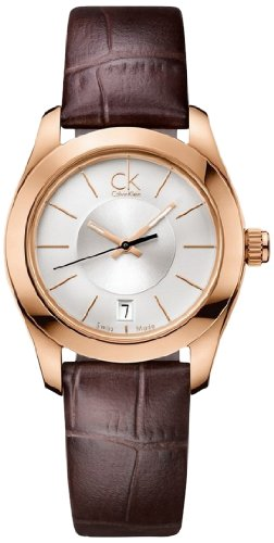 Reloj Calvin Klein para mujer k0K23620al cuarzo (batería) acero quandrante platino correa piel