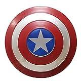Escudo Capitan America Metal 1: 1 Legendary Series Movie Props SuperhéRoe Retro Disfraz Escudo Halloween Adultos Y NiñOs American Shield Bar DecoracióN, 3 TamañOs