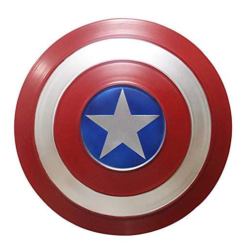 Escudo Capitan America Metal 1: 1 Legendary Series Movie Props SuperhRoe Retro Disfraz Escudo Halloween Adultos Y NiOs American Shield Bar DecoraciN, 3 TamaOs