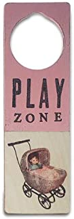 Tree By Kerri Lee Wooden Doorknob Sign Play Zone, Pink