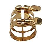 Yibuy - Ligadura para boquilla de saxofón alto, con tornillos dobles, dorado