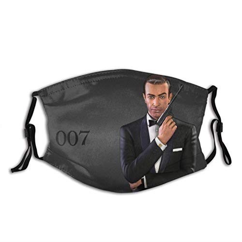 James Bond 0-0-7 Sean Connery Unisex Windproof Anti Dust Warm Protective Washable Balaclava Reusable Mouth Cover