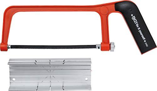 Kraftmann 2082 | Arco de sierra de aluminio | con caja de ingletes y hoja de sierra | 150 mm