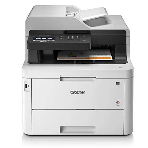 Brother MFCL3770CDW Stampante Multifunzione Colori LED, FAX, 24 ppm, Copia, Scansione Fronte/Retro Automatici, Rete Cablata, Wi-Fi, NFC, USB 2.0 Hi-Speed, ADF 50 Fogli, Touchscreen, Toner 1000 Pagine