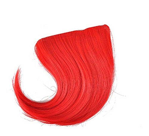 Colorful étape perruque, parti perruque, cheveux Bangs Perruques,Rouge