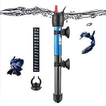 Hitop 50W 100W 300W Submersible Adjustable Aquarium Heater for 5 – 70 Gallon Fish Tank  100W for 10~30 Gallon
