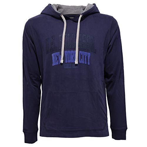 U.S. POLO ASSN. 8610AA Felpa Uomo Blue Cotton Hoodie Sweatshirt Man [L]