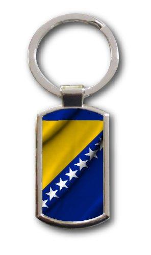 Schlüsselanhänger Bosnien Bosna Sarajewo Kosovo Fahne Flag