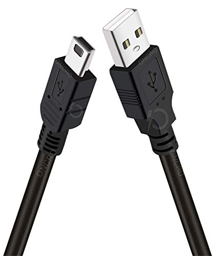 ONCRO® Upgraded 1 Meter 5 Pin Mini USB to USB A Charging Cable Data Sync Transferring for MP3 MP4 Player Car DVR GPS Digital Camera HDD Smart TV Hard Disk HDD Mini Speaker Digital Devices.